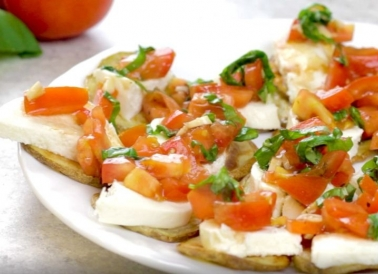 Potato Bruschetta on a plate