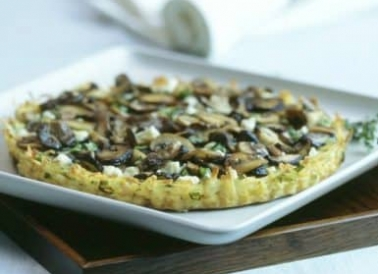 Mushroom Tart in Potato Crust