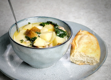 Potato sausage soup