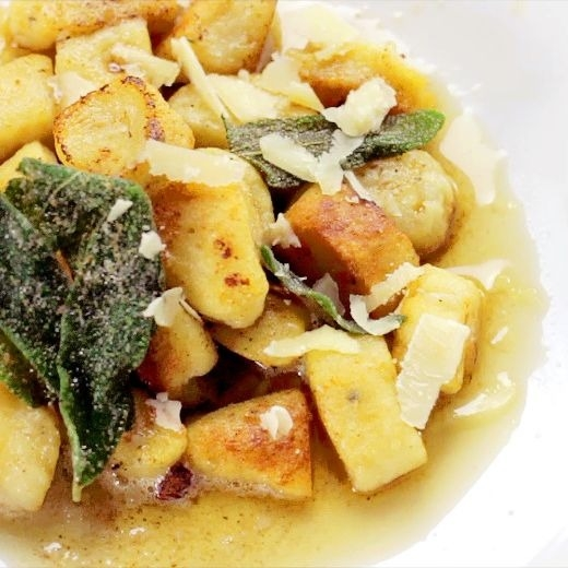 potato gnocchi on plate