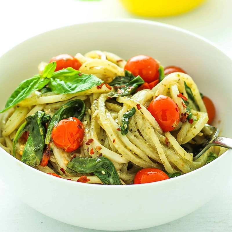 Potato Pesto Noodles Image
