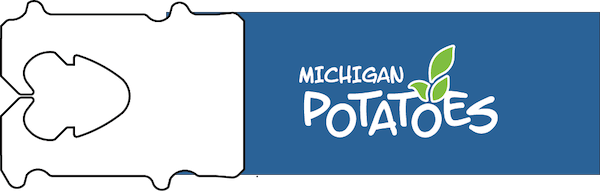 The tag used on bags of Michigan Potatoes