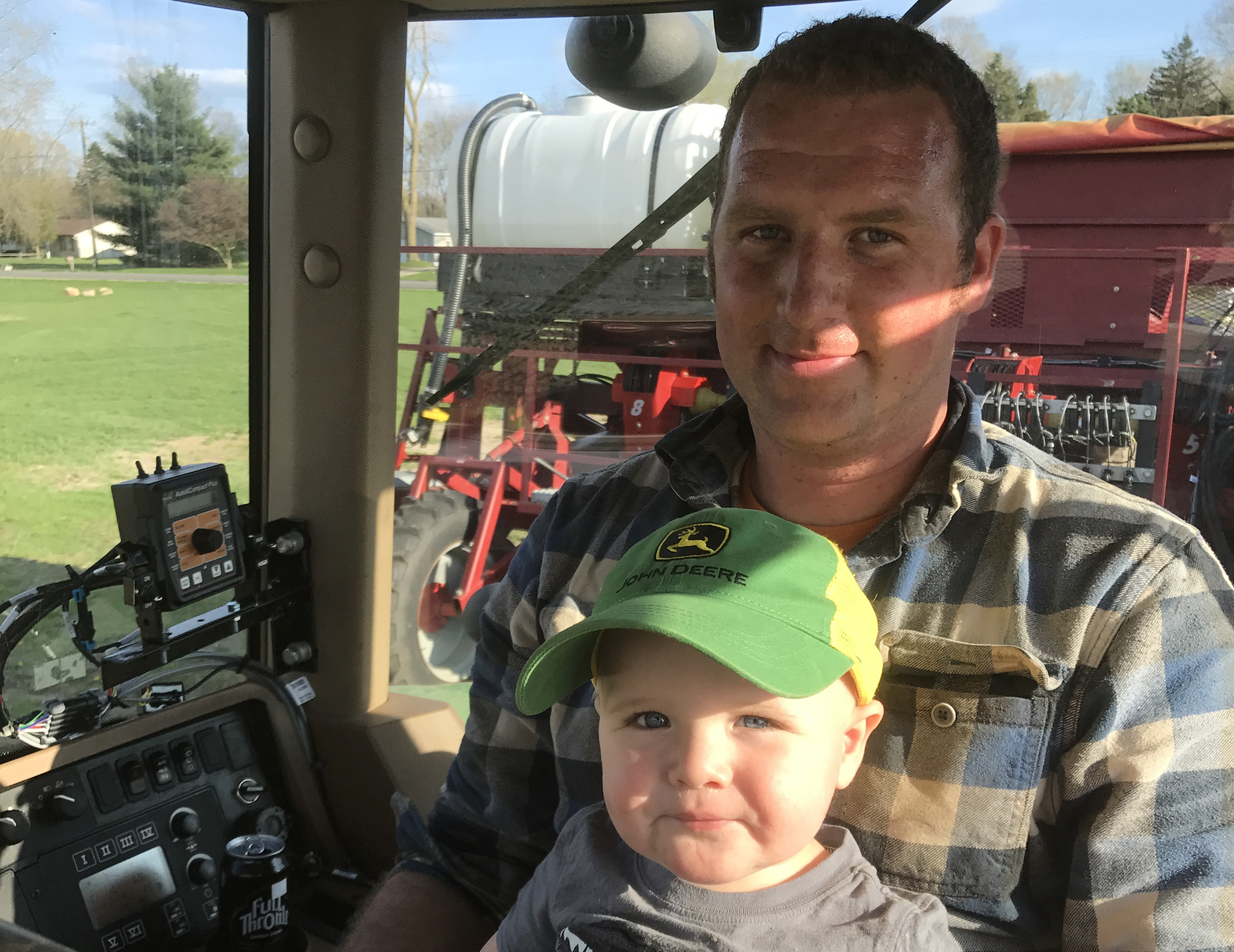 Ryan and Son in tractor